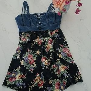 Free People Denim and Floral dress